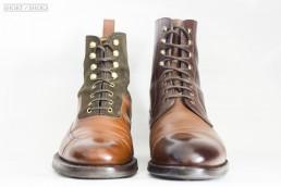 Balmoral boot vs blucher boot.