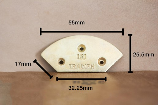 triumph metal toetap plate size